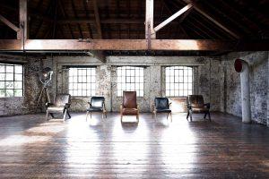 rustic warehouse venue, unusual event in London